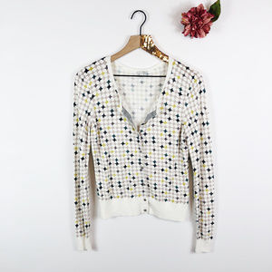 [HALOGEN] Button Up Diamond Print Cardigan